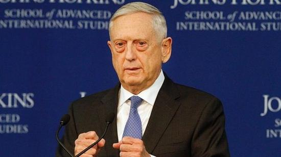 美防长马蒂斯19日在华盛顿公布国防战略报告(美联社)