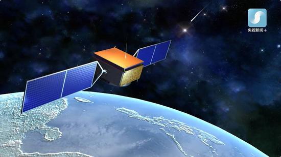 """△""""悟空""""号暗物质粒子探测卫星。2015年12月17日,中国成功发射首颗暗物质粒子探测卫星""""悟空""""号,监测暗物质粒子湮灭或衰变后产生的高能粒子,如伽马射线、正负电子等,精确测量这些粒子的能谱,从而间接证明暗物质的存在。"""