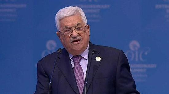 资料图:巴勒斯坦国总统阿巴斯