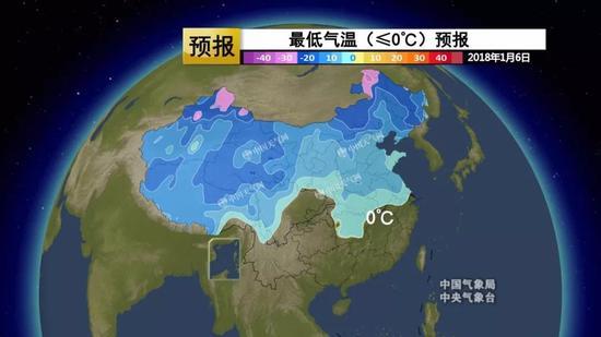 △我国最低温0℃线逐渐南移