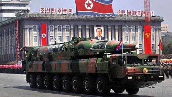 图为朝鲜研制的弹道导弹