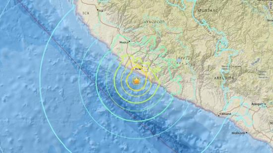 资料图:秘鲁地震。来源:CNN