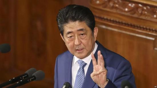 ▲1月22日,东京,安倍晋三在国会上发表演说。