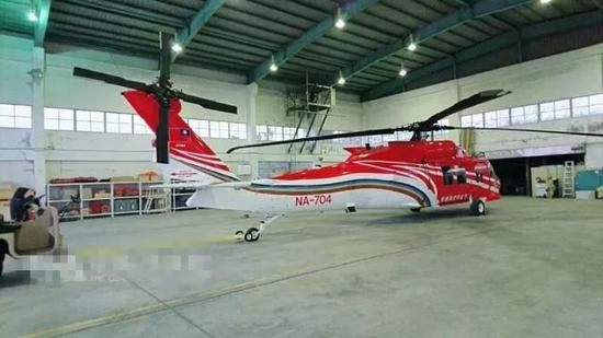 ▲图为同型直升机