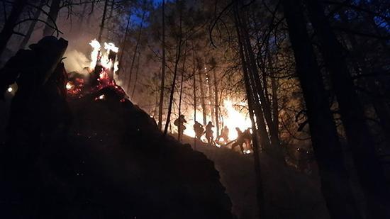 四川雅江发生两起森林火灾。本文图片均由武警甘孜州森林支队提供