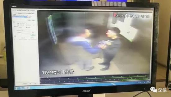 张家泽与同行回家的男子发生肢体冲突