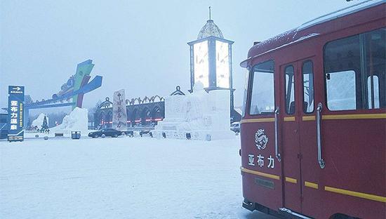雪后的亚布力景区。摄影:刘成伟