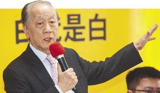 新党主席郁慕明。(图片来源:台湾《中国时报》)