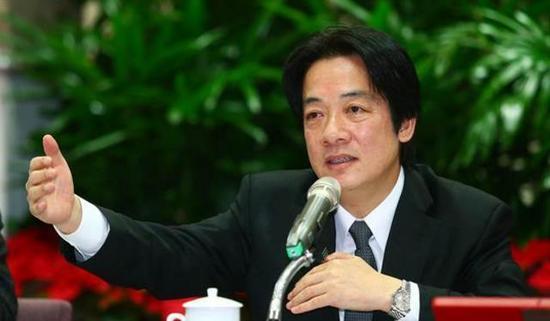 赖清德(图片来源:台湾《中时电子报》)