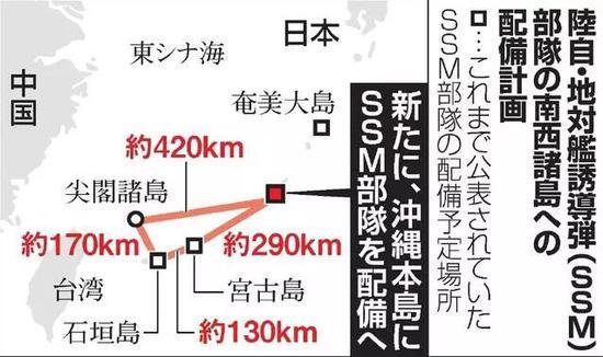 """日本要在这地方部署导弹 对中国军舰""""两面夹击"""
