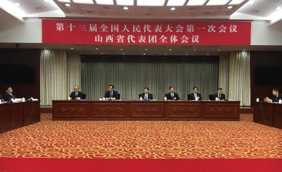 3月9日上午,十三届全国人大一次会议山西省代表团团组开放。