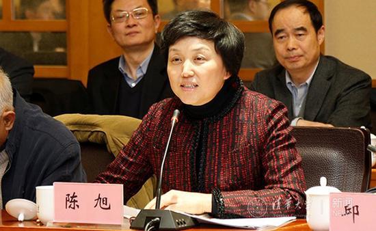 陈旭在会上发言。