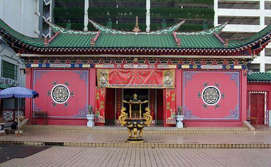 ▲文萊首都斯里貝加萬市的華人廟宇(圖片來源:維基百科共享頁面)