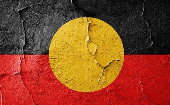 ▲图为澳洲原住民的旗帜