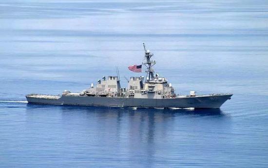 """▲美国海军""""阿利·伯克""""级驱逐舰"""
