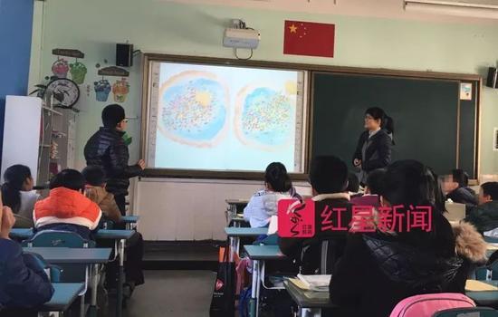 ▲王悦微在上课  图片来源:红星新闻