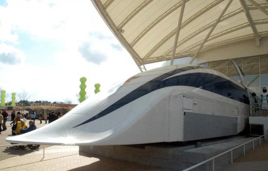 △日本JR东海磁浮列车馆曾展出的列车/视觉中国