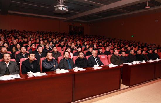 会议现场。郑州市教育局政务网 图