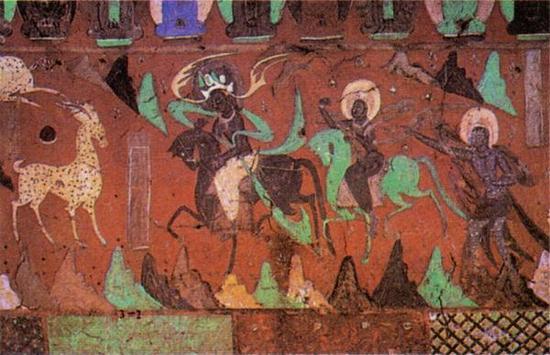 敦煌壁画《九色鹿王本生图》局部图