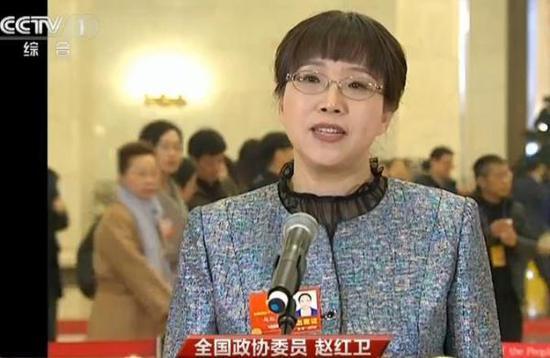 全国政协委员、中国铁道科学研究院首席工程师赵红卫接受媒体采访。央视新闻截图 来自海外网