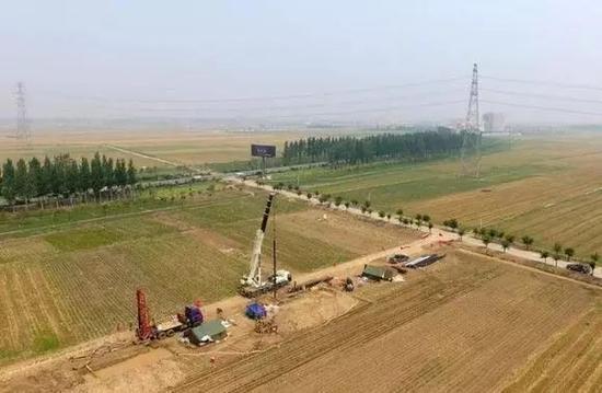 雄安新区开展地质调查工作。新华社发