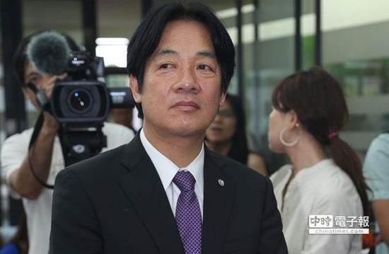 """台当局""""行政院长""""赖清德。(图片来源:台湾《中时电子报》)"""