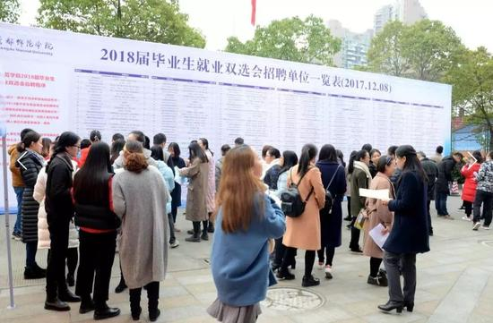 """""""成都师范学院2018届毕业生就业双选会""""举行。"""