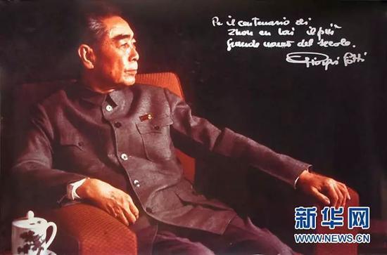 焦尔乔洛迪拍摄的著名肖像――《深思中的周恩来》。图片来源:新华网