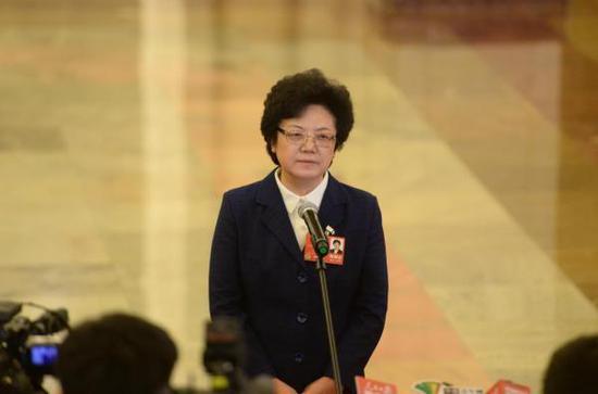 国家卫计委主任李斌针对遏制因病致贫的举措回答记者提问。东方IC 图