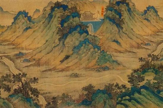 无款 设色绢本 《丝路山川舆图》卷首 部分