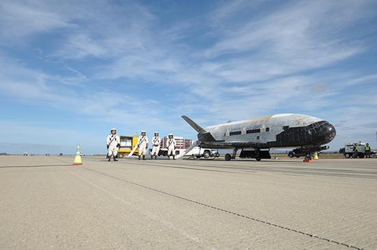 太空技术仍是美国前沿军事技术发展的重点,图为美国X-37B轨道飞行器。