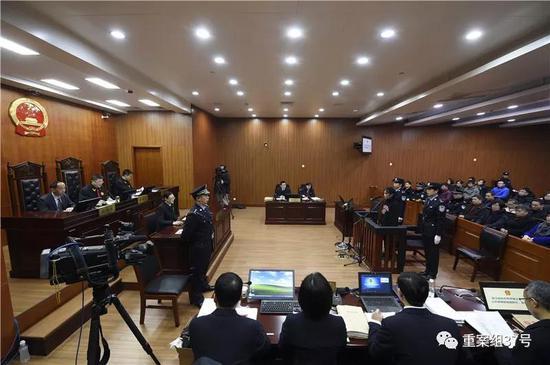 """▲""""6·22保姆纵火案""""庭审现场。 图片来源/杭州中院官网"""