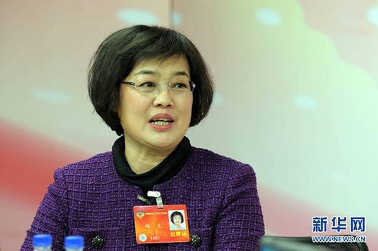 全国政协委员、山东英才学院董事长杨文。新华网 资料图
