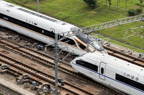 ▲中国高铁。 图片来源:新华社