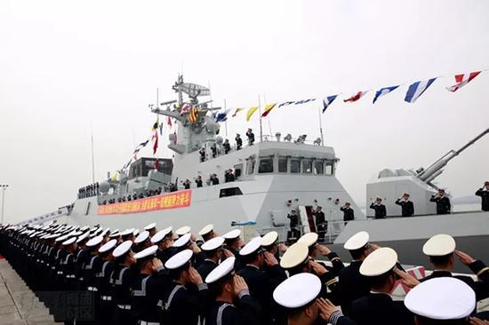 056A型保护舰遂宁舰 本文图均为 南部战区微信大众号 图