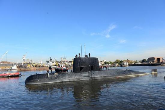 """阿根廷""""圣胡安""""号潜艇   视觉中国 资料图"""