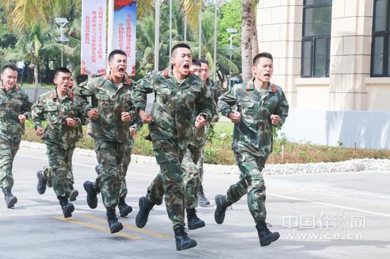 中队战士们在岛上训练 经济日报-中国经济网记者 秦爽/摄
