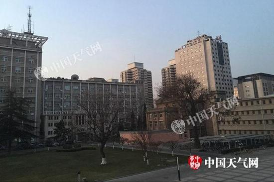 今早北京天气晴好。