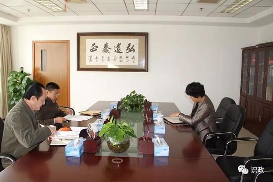 2017?年?11?月,海淀区委第三巡察组在西北旺镇展开谈话工作(海淀区纪委宣传部提供)