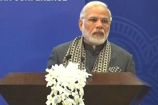 印度总理莫迪(图片来源:印度新德里电视台)