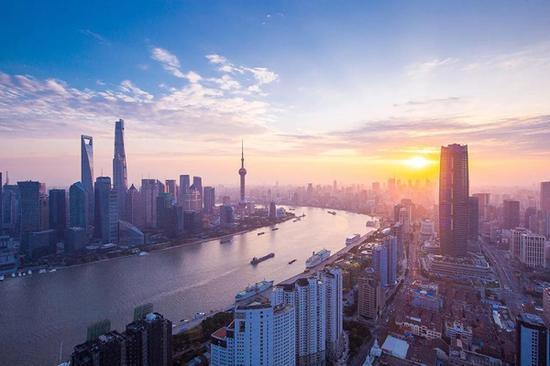 从星港国际中心眺望上海黄金三角