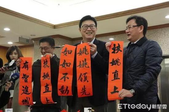 """姚文智将成为吕秀莲在民进党内初选时的主要对手。来源:""""东森新闻云"""""""
