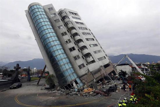 花莲发生规模6.5级地震。(图片来源:台湾《中时电子报》)