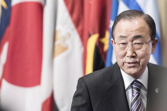 ▲潘基文在担任联合国秘书长期间广受赞誉。(联合国)