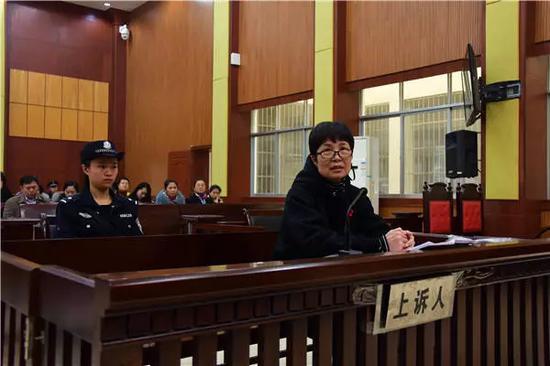 二审庭审中原告人张冬梅在法庭上