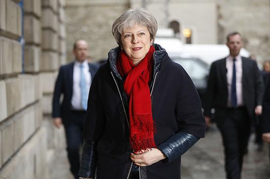 当地时间2018年3月2日,英国伦敦,英国首相特雷莎・梅。 视觉中国 图