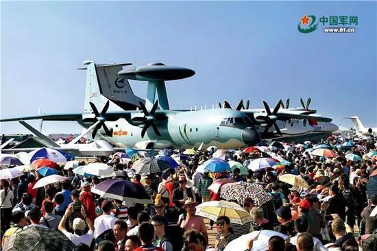 空军展出的空警-500预警机。穆可双 摄
