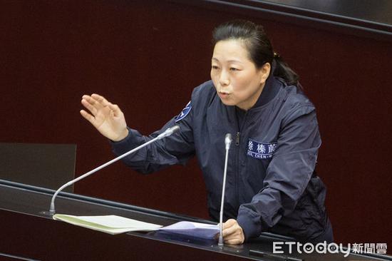 """国民党""""立委""""人徐榛蔚。(图片来源:台湾""""东森新闻云"""")"""