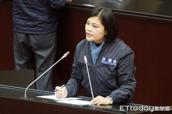 """国民党""""立委""""张丽善。(图片来源:台湾""""东森新闻云"""")"""