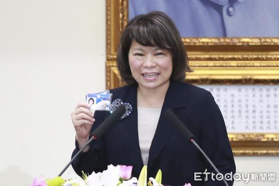"""前嘉义市长黄敏惠。(图片来源:台湾""""东森新闻云"""")"""